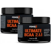 PowGen Ultimate BCAA 2:1:1 Pulver Zweierpackung Mit Magnesium- und Zinkzusatz Muskelregeneration Orangengeschmack 2x 174 g (5,8 g pro Portion)
