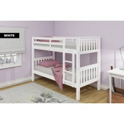 Wooden Oxford Bunk Bed with Optional Mattresses - 2 Colours