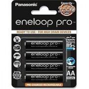 Panasonic Eneloop Pro upto 2550mAh AA Rechargeable Ni-MH Battery 4xAA