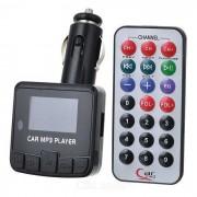 """""""1.3 """"""""coche LED reproductor de MP3 transmisor FM w / control remoto - negro"""""""