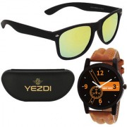 Green-OW Green Mercury Wayfarer Sunglasses With Free Wake Wood Watch