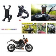 AutoStark Motorcycle Mount Cell Phone Holder/Installed to Motorcycle Rearview mirror Phone Mount For KTM Duke 200