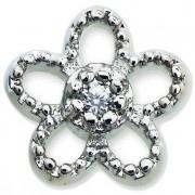 Sanico Srl Orecchino Post-Foratura Elegant Flower Crystals Bjt967