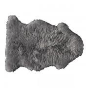 Maisons du monde Alfombra gris de piel de oveja 55 × 90 cm