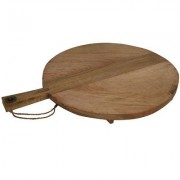 Snijplank serveerplank hout mango rond 42 cm