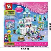 TOY-STATION - LEGOO STYLE BLOCKS ( LIMITED EDITION ) (FROZEN-ANNA-ELSA-KRISTOFF-LEGO TYPE 767+BLOCKS)