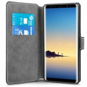 Centopi Samsung Galaxy Note 8 PU Leather Slim Wallet Stand Case - Black