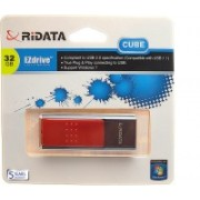 Ridata Cube 32 GB Pen Drive(Red)