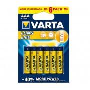 Varta 4103 - 6 buc Baterii alcaline LONGLIFE EXTRA AAA 1,5V