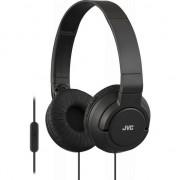 Casti audio cu banda JVC HA-SR185-B, tip DJ, Ultrausoare, Control Telefon, Negru