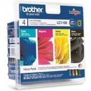 Brother LC-1100BK/C/M/Y VALUE BP Ink Cartridge Standard Set - LC1100VALBP