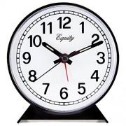 Equity by La Crosse 14075 Reloj Despertador analógico, Color Negro