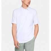 Under Armour Herenpolo Charged Cotton® Scramble - Mens - White - Grootte: Small