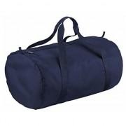 Bagbase Navy blauwe ronde polyester sporttas/weekendtas 32 liter