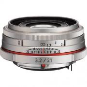 Pentax 21mm f/3.2 da hd al limited - argento - 4 anni di garanzia