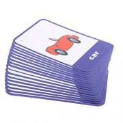 Phenovo Various Flash Cards Set - Educational Learning Picture & Word Card Flashcards - Vehicle, 13.5x9.2cm