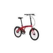 Bicicleta Dobrável Portátil Leve Durban Modelo Eco Aro 20 Vermelho