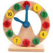 Niños Bloques De Construcción De Madera Reloj Juguetes Educativos Número Acorde Con La Geometria, Tamaño: 20,5 * 20.5 * 7cm