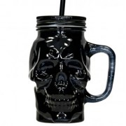 Sticla cu pai model craniu, Halloween 400ml