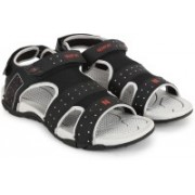 Newport Men Black/Grey Sports Sandals