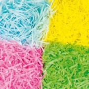 Baker Ross Shredded Tissue - 72 g of Coloured Shredded Paper in 4 assorted colours - Pink, Blue, Green & Yellow