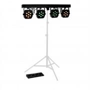 BEAMZ LED PARBAR 4 WAY 7X10W четворен LED светлинен ефект DMX музикален контрол (Sky-150.495)