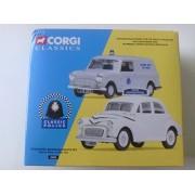 Corgi Classics Classic Police Stockport Borough Police Set Morris Minor & Mini Van Diecast Vehicles 1:43 Scale #08005