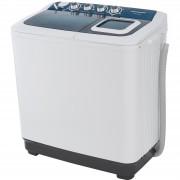 Masina de spalat rufe semiautomata Heinner HSWM-AD84BL, 8 Kg, 4.6 Kg, Alb Albastru
