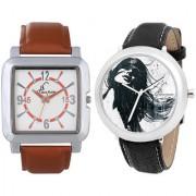 Jack Klein Combo of Rectangular And Round Dial Elegant Analog Wrist Watches