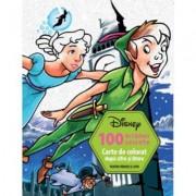 Disney: 100 de Tablouri Secrete. Carte de Colorat dupa Cifre si Litere
