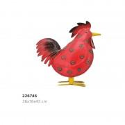 Coq rouge GM en métal