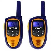 Retevis Rt31 Mini Kids Walkie Talkies 22 Ch 0.5 W Uhf Frs/Gmrs Vox Lcd Display 2 Way Radio (Purple,1 Pair)