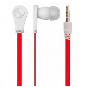 Global Technology Gt Auricolare A Filo Stereo Be Bass In-Ear Universale Jack 3,5mm Per Musica Red Per Modelli A Marchio Apple