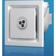 Mennyezeti elszívó ventilátor 3x1W LED 22W 205X205mm