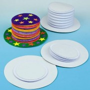 Paper Top Hats to Decorate - 4 Decorate Your Own Party Hat Kits. Plain concertina hats to personalise. Size: 32cm. Ideal for carnivals and parties.