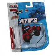 Maisto Racing #250 (Red) * Off-Road Series Motorized ATV * 2010 Maisto ATV's Fresh Metal Pull-Back Motor Die-Cast Vehicle
