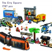 Models building toy 02038 1767pcs The City Square Building Block Compatible with lego City Series 60097 toys & hobbies for gift