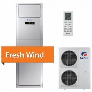 Aer conditionat Coloana Gree FRESH WIND GVH48AH-M3DNA5A, Inverter, 48000 BTU, Afisaj LED, Auto diagnoza, R32, Alb
