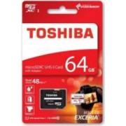 Card memorie Toshiba Exceria MicroSDHC 64 GB Clasa 10