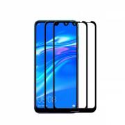 Set 2 folii protectie sticla securizata fullsize pentru Huawei Y7 2019/ Y7 Pro 2019/ Y7 Prime 2019, negru
