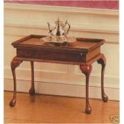 The House of Miniatures 40039 Queen Anne Tea Table Circa 1740-1750