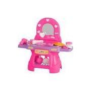 Penteadeira Infantil Calesita Mini Glamour - 14 Acessórios - Rosa/Lilás