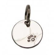 Dog Tag Silver with Paw
