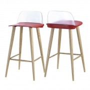 Set de 2 scaune de bar PAUL-TR rosu 464.TPAULTR SDM