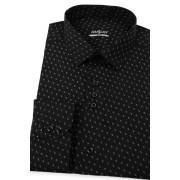 Pánská košile SLIM černá bílý vzoreček Avantgard 125-2308-43/44/194