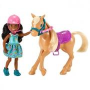 Set de joaca Barbie Chelsea Papusa si calut