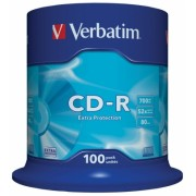 CD-R 700 MB 52X Extra Protection 100 bucati Verbatim