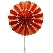 Orange Flower Paper Fans (packs of 10)