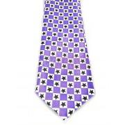 Krawat fioletowy - SZACHOWNICA W GWIAZDKI (K-17)