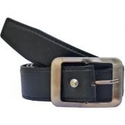 Sunshopping men's black leatherite needle pin buckle belt (PSD-TB-CBA)